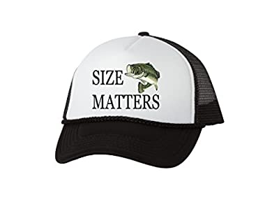 Funny Trucker Hat Size Matters Fishing Baseball Cap Retro Vintage Joke Fish