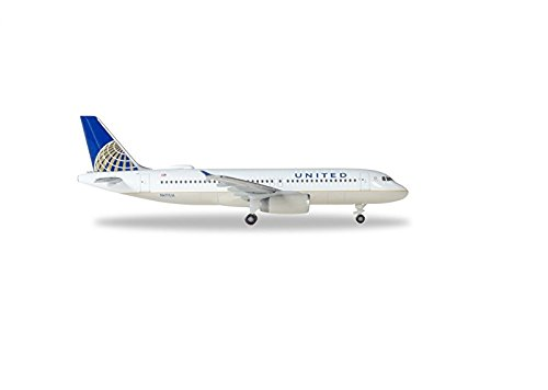 (HERPA Wings 531252 United Airlines Airbus A320 'N491UA' 1/500 Scale Model)