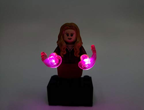 BlingBlingBrick - Scarlet Witch Wanda Minifigure with LED Light Up Chaos Magic