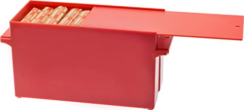 Nadex Large Capacity Rolled Coin Storage Box for Pennies | 25 Dollar Capacity, Lockable Red Penny Tray, Deep