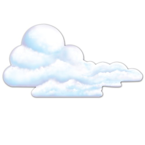 - Beistle 55242 Cloud Cutout, 29-Inch, 12-Pack