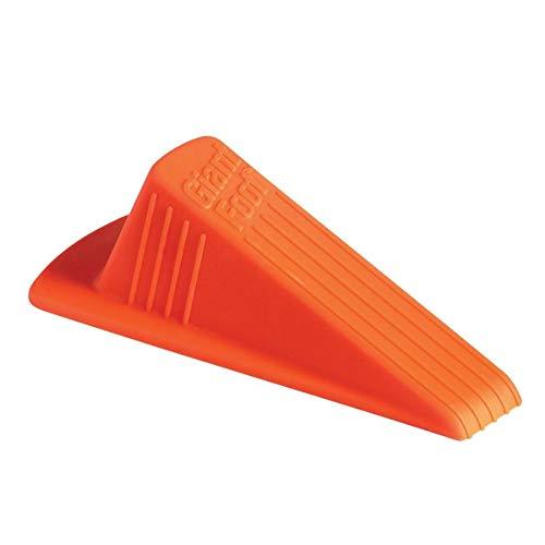 Foot No Slip Door Stops - Master Caster 00965 Giant Foot Doorstop, No-Slip Rubber Wedge, 3-1/2w x 6-3/4d x 2h, Safety Orange
