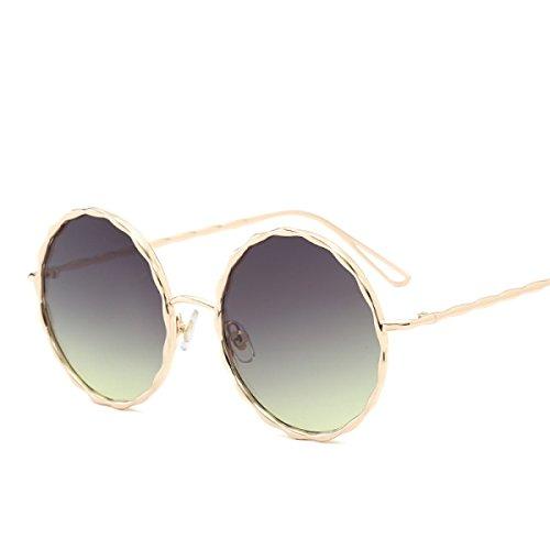 Aoligei Lunettes de soleil rétro européen et américain grand encadrent des verres de lunettes anti-UV QCWgmMc