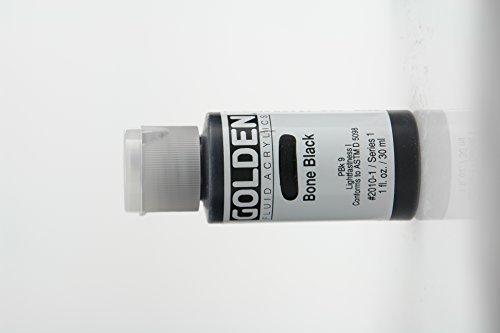 Golden Fluid Acrylic Paint 1 Ounce-Bone Black