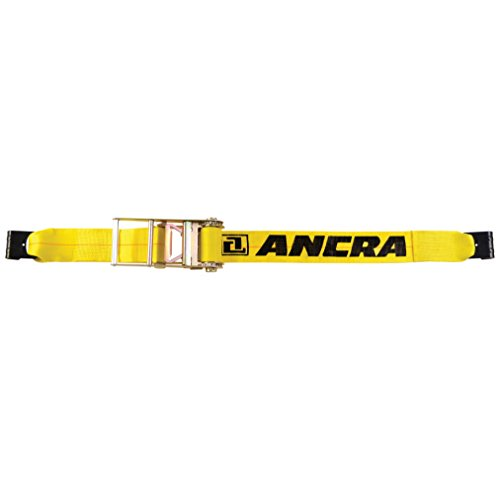 Ancra Standard Tie Downs - Ancra 49346-10 Ratchet Tie Down with Flat Hooks, 4-Inch by 27-Feet, 5,400-Pounds Working Load Limit