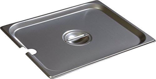 Carlisle 607120CS DuraPan 18-8 Stainless Steel Half-Size Slotted Food Pan Cover, 10-3/8 x 12-3/4