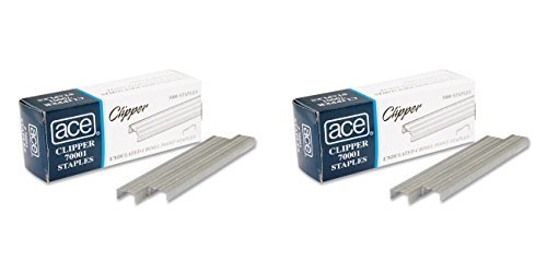 Ace Office Products 70001 Staples, Undulated, For 07020 Clipper Plier, 5000/BX, 2 Packs