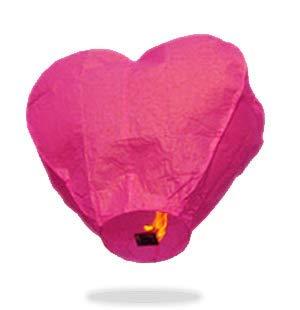 Pink Heart Sky Lanterns - Rice Eyelet Lanterns Paper