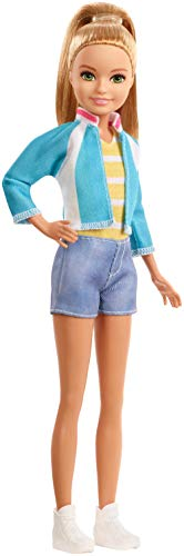 Barbie Dreamhouse Adventures Stacie Doll, Approx. 9-Inch, Blonde in Denim Shorts and Jacket, Gift for 3 to 7 Year Olds