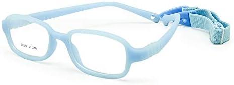 EnzoDate Kinder optische Brillengestell mit Gurt, Safe biegsam Größe 43/16