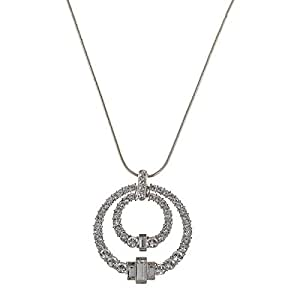Oliver Weber Women's Orchester Rhodium Crystal Pendant Necklace
