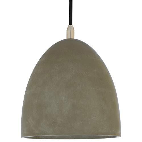 Rivet Concrete Dome Ceiling Hanging Pendant Chandelier Light Fixture – 8 x 8 x 30 Inches, Concrete and Metal
