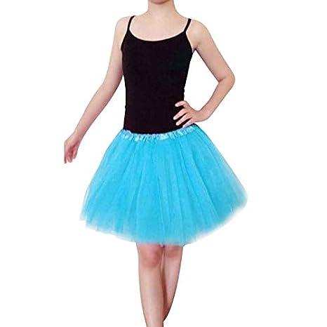TIMEMEAN Mujer Organza En Capas Minifalda De Encaje Falda De Ballet Tutu