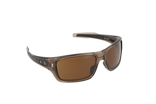 Oakley Men's Turbine 0OO9263 Rectangular Sunglasses, BROWN SMOKE Dark Bronze, 65 - Polarized Oakley Bronze