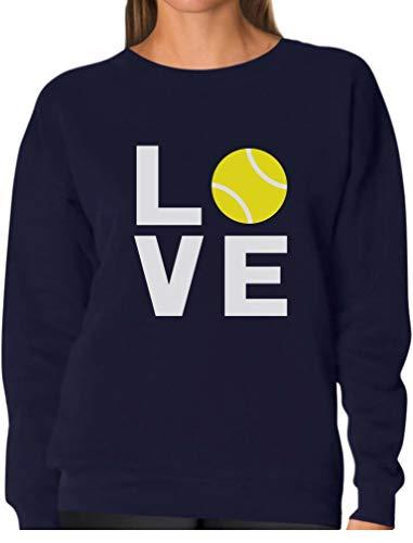 TeeStars - Love Tennis - Gift Idea for Tennis Fans Cool Women Sweatshirt Large Navy