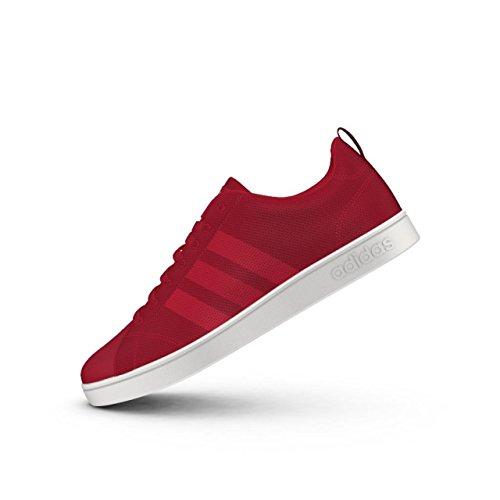 Adidas VS Advantage CL, Baskets mode pour homme, Rouge–(escarl/escarl/Ftwbla) 402/3
