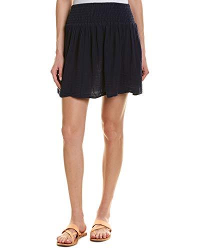 Michael Stars Women's Double Gauze Smocked Waist Skirt, Nocturnal, X-Small