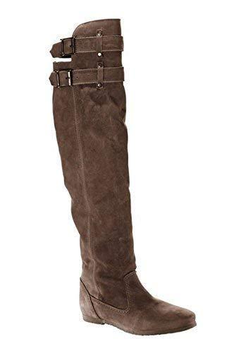 Taupe Stiefel von Aus Veloursleder Linea Tesini Damen 4qw5ZY1