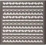 (CraftbuddyUS 12 Stick On Strips of Assorted Designs Clear Rhinestone Gems Crafts)