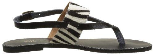 SODASIPHON Echo Ss14-s-28b - Sandalias de cuero para mujer, color Negro (Noir (Zebra))