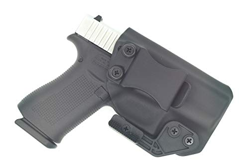 Sunsmith Holster AIWB Series - Compatible with Glock 43x / 43 Kydex Appendix Inside Waistband Concealed Carry Holster Made in USA by Fast Draw USA (Black - Right Hand)