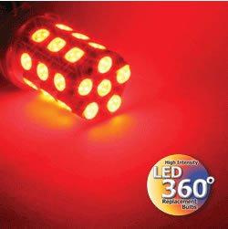 Putco Red 237443R-360 LED 360-Degree Premium Replacement Bulb -2 Piece