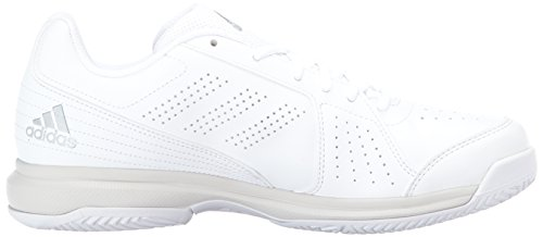 adidas Performance Damen Aspire Tennisschuh Weiß / Metallic Silber / Grau Eins