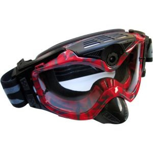 Liquid Image Impact Series HD 1080p Off-Road Goggle with Full HD Camera, 4000 x 3000 Image Resolution, 1/3.2'' CMOS Sensor, Red
