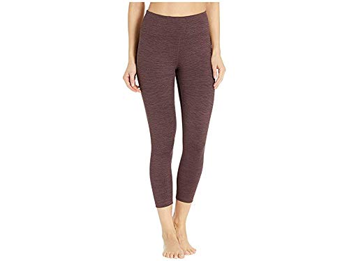 Manduka (MNDK9 Essential High Waisted Cropped Capri Legging, Fig, Medium