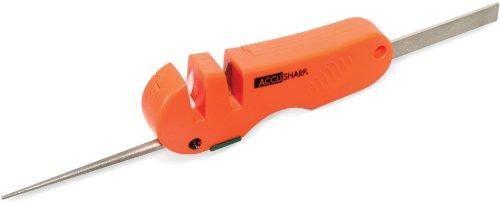 Accusharp 028C 4-in-1 Knife and Tool Sharpener, Blaze Orange