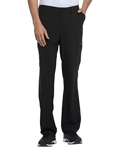 dickies EDS Essentials Men's Natural Rise Drawstring Scrub Pant, M Short, Black