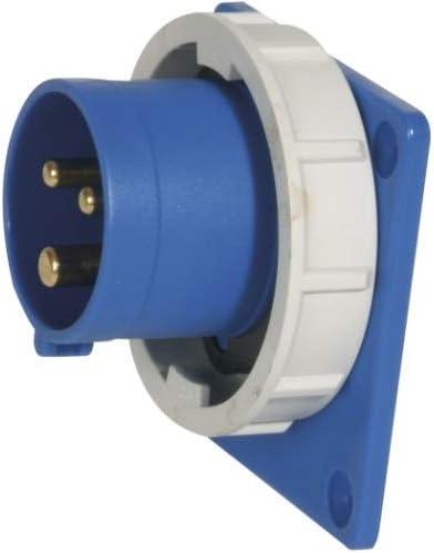 3-polig 230 V SIROX/® CEE-Anbauger/ätestecker IP 67 6 h 16 A 75 x 75 mm