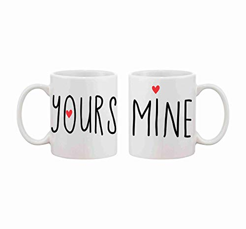 Valentines Day Gift for Couple His and Hers Mug Set Yours and Mine 2 Piece Mug Set Couples Mugs Engagement Gift Photo Prop Wedding Gift Holiday Gift