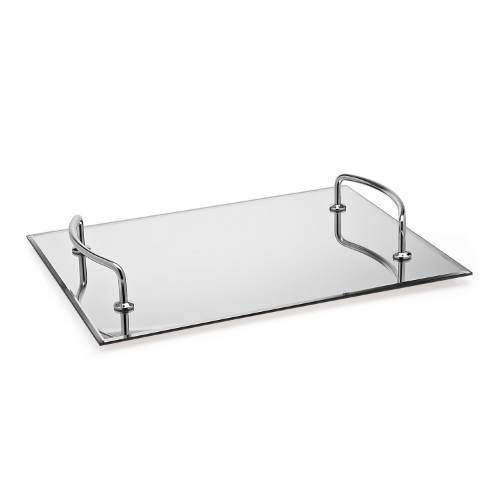 StudioSilversmiths 44171 12 x 16 Mirror Tray With Silver Handles by StudioSilversmiths