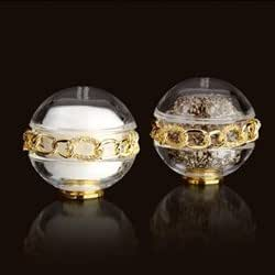 L'Objet Gold Plated Chain Link Spice Jewels, Salt and Pepper, Set of 2