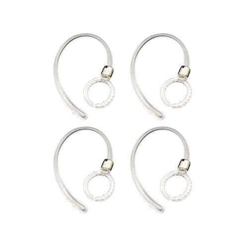 4pcs Clear Earhooks for Motorola Elite Flip HZ720 HX550 H19 H19txt H17 H17txt H525 H520 Boom 89605N Wireless Headphones Headsets Ear Hooks Loops Clips (Hx550 Motorola Ear Hook)