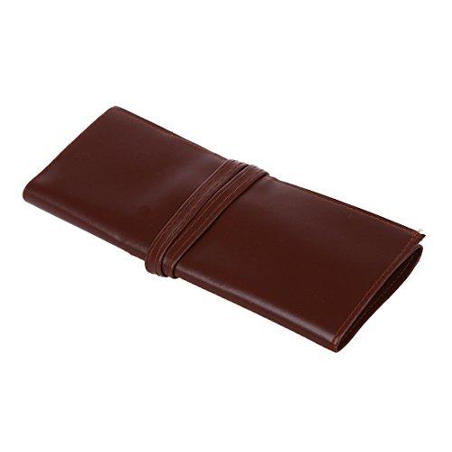 Borsa - TOOGOO(R) Case Penna matita cosmetica trucco di caffe in pelle di immagazzinaggio del sacchetto contenitore