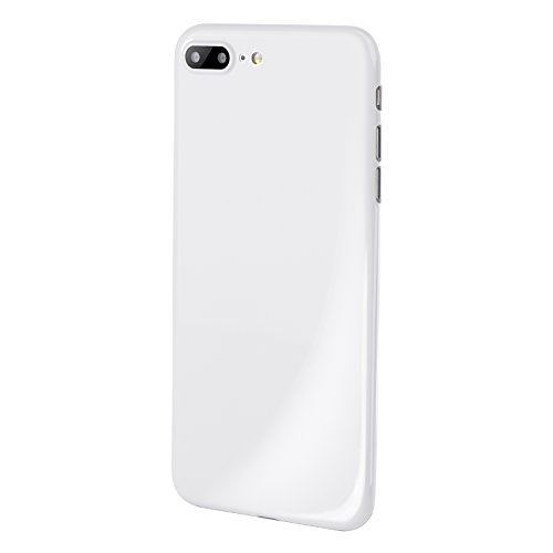 iPhone 7 Plus Case, Thinnest Cover Premium Ultra Thin Light Slim Minimal Anti-Scratch Protective - For Apple iPhone 7 Plus | totallee The Scarf (Jet White) (For Iphone Plus Scarf)