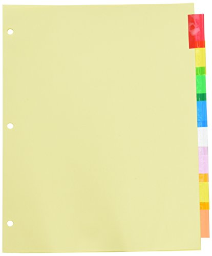 Wilson Jones Insertable Binder Tab Dividers, 8 Tab Multicolor (W54311A) - 6 packs of 8 sets ()