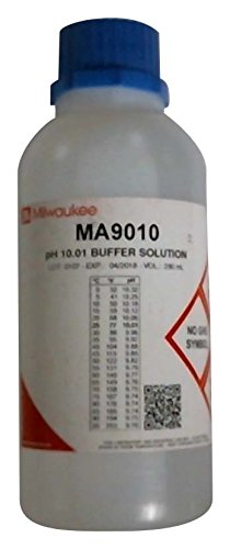 Milwaukee MA9010 pH 10.01 Calibration Buffer Solution, 220mL Bottle (Bottle Ml 220)