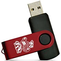 NCAA Wisconsin Badgers 8GB High-Speed USB Flash Drive with Swivel Cap and Lanyard