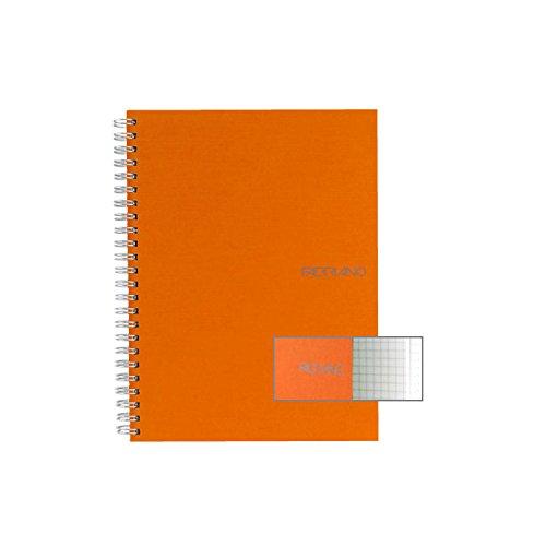 Ecoqua Spiral Notebook 5.8X8.25 Orange ()