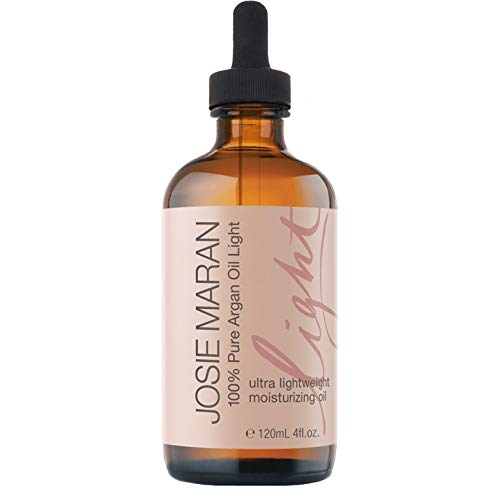 Josie Maran 100% Pure Argan Oil Light - Organic and Natural Oil that Nourishes, Conditions, and Heals (Luxury 4oz/120ml)