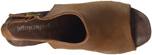 Jeffrey Campbell Snick Leather, Women's High Heels Brown (Marrone Brown)
