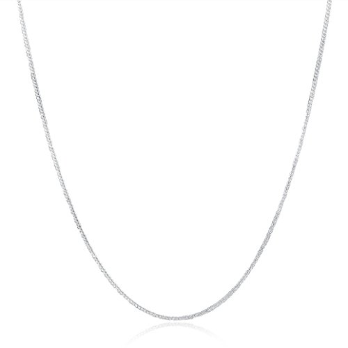 Diy Female Superman Costume (Necklace, Hatop Fashion Women Men 2MM Silver Necklace Chain Jewelry (26inch))