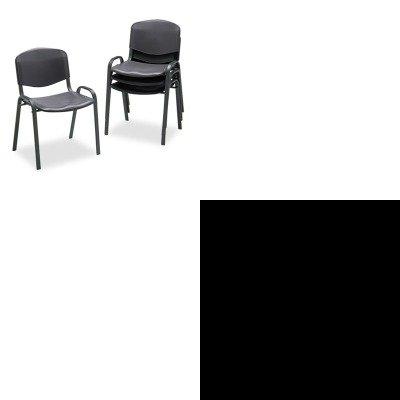 KITSAF4185BLSAF5526GR - Value Kit - Safco Double Tier (SAF5526GR) and Safco Contour Stacking Chairs (SAF4185BL)
