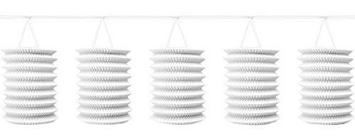 White, Paper Lantern Garland 12', 1 Per Pack