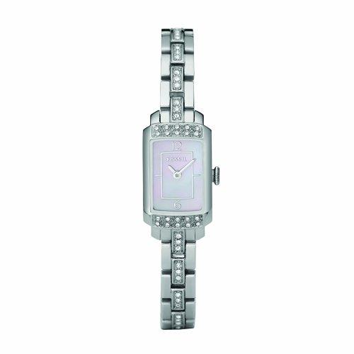 Fossil Women's ES2643 Stainless Steel Bracelet Pink Glitz Analog Dial Watch