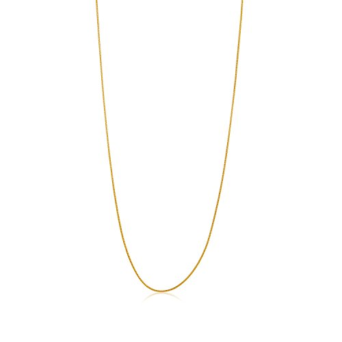 14k Gold Plated Snake Chain (The Bling Factory Thin 1.2mm 14k Gold Plated Stainless Steel Snake Chain w/Lobster Clasp, 30 inches + Jewelry Polishing Cloth)