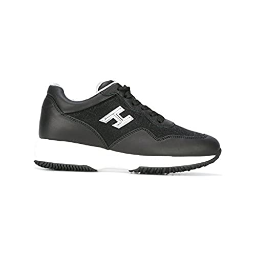 Vellidte 80%OFF Hogan Women's HXW00N0W661FQJ0353 Black Leather Sneakers HM-93